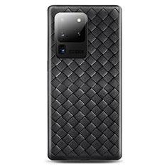 Funda Silicona Goma de Cuero Carcasa H05 para Samsung Galaxy S20 Ultra Negro