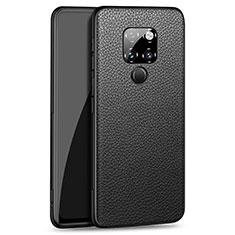 Funda Silicona Goma de Cuero Carcasa H06 para Huawei Mate 20 Negro