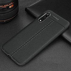Funda Silicona Goma de Cuero Carcasa H06 para Huawei P20 Negro