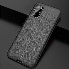Funda Silicona Goma de Cuero Carcasa H06 para Samsung Galaxy S20 Plus 5G Negro