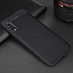 Funda Silicona Goma de Cuero Carcasa H07 para Huawei P20 Pro Negro