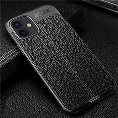 Funda Silicona Goma de Cuero Carcasa para Apple iPhone 12 Mini Negro