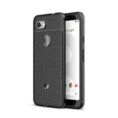Funda Silicona Goma de Cuero Carcasa para Google Pixel 3a XL Negro