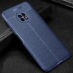 Funda Silicona Goma de Cuero Carcasa para Huawei Enjoy 20 Plus 5G Azul