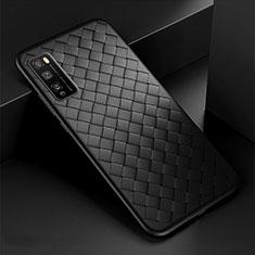 Funda Silicona Goma de Cuero Carcasa para Huawei Enjoy 20 Pro 5G Negro