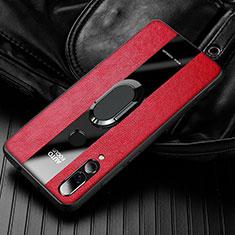 Funda Silicona Goma de Cuero Carcasa para Huawei Enjoy 9s Rojo