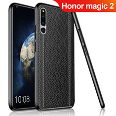 Funda Silicona Goma de Cuero Carcasa para Huawei Honor Magic 2 Negro