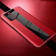 Funda Silicona Goma de Cuero Carcasa para Huawei Honor View 30 5G Rojo