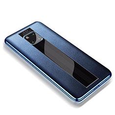 Funda Silicona Goma de Cuero Carcasa para Huawei Mate 20 RS Azul