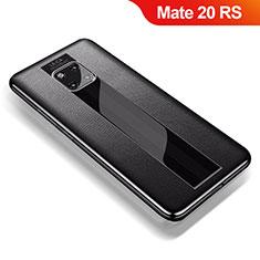 Funda Silicona Goma de Cuero Carcasa para Huawei Mate 20 RS Negro