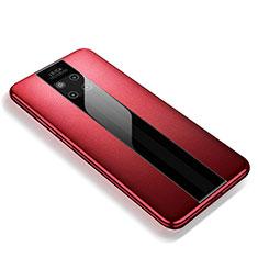 Funda Silicona Goma de Cuero Carcasa para Huawei Mate 20 RS Rojo