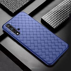 Funda Silicona Goma de Cuero Carcasa para Huawei Nova 5 Pro Azul