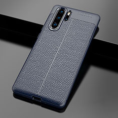 Funda Silicona Goma de Cuero Carcasa para Huawei P30 Pro Azul