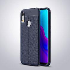 Funda Silicona Goma de Cuero Carcasa para Huawei Y6s Azul