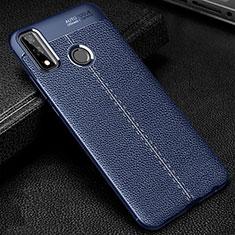 Funda Silicona Goma de Cuero Carcasa para Huawei Y8s Azul