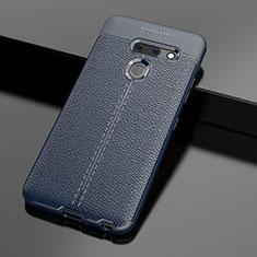Funda Silicona Goma de Cuero Carcasa para LG G8 ThinQ Azul