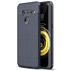 Funda Silicona Goma de Cuero Carcasa para LG V50 ThinQ 5G Azul