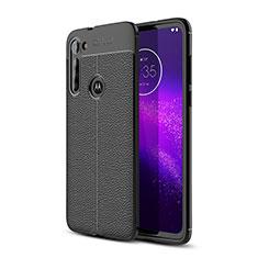 Funda Silicona Goma de Cuero Carcasa para Motorola Moto G8 Power Negro