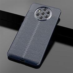 Funda Silicona Goma de Cuero Carcasa para Nokia 9 PureView Azul