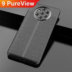 Funda Silicona Goma de Cuero Carcasa para Nokia 9 PureView Negro