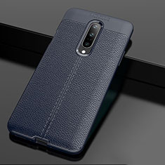 Funda Silicona Goma de Cuero Carcasa para OnePlus 7 Pro Azul