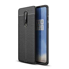 Funda Silicona Goma de Cuero Carcasa para OnePlus 8 Negro