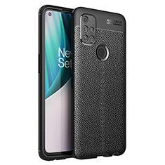 Funda Silicona Goma de Cuero Carcasa para OnePlus Nord N10 5G Negro