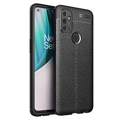 Funda Silicona Goma de Cuero Carcasa para OnePlus Nord N100 Negro