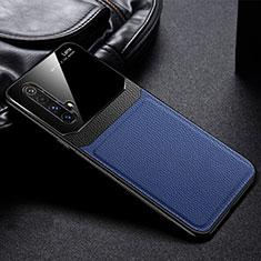 Funda Silicona Goma de Cuero Carcasa para Realme X50 5G Azul