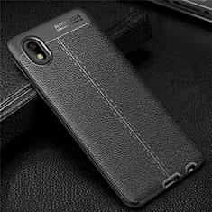 Funda Silicona Goma de Cuero Carcasa para Samsung Galaxy A01 Core Negro