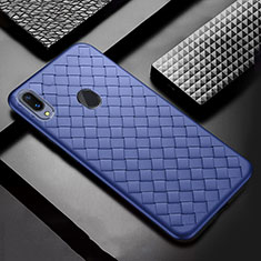 Funda Silicona Goma de Cuero Carcasa para Samsung Galaxy A30 Azul