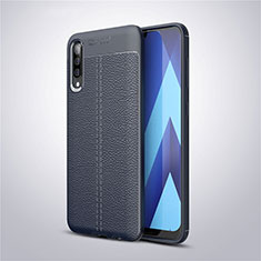 Funda Silicona Goma de Cuero Carcasa para Samsung Galaxy A30S Azul