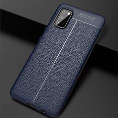 Funda Silicona Goma de Cuero Carcasa para Samsung Galaxy A41 Azul