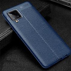 Funda Silicona Goma de Cuero Carcasa para Samsung Galaxy A42 5G Azul