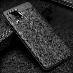 Funda Silicona Goma de Cuero Carcasa para Samsung Galaxy A42 5G Negro