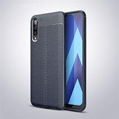 Funda Silicona Goma de Cuero Carcasa para Samsung Galaxy A50 Azul