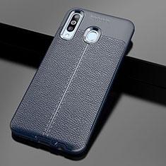 Funda Silicona Goma de Cuero Carcasa para Samsung Galaxy A60 Azul