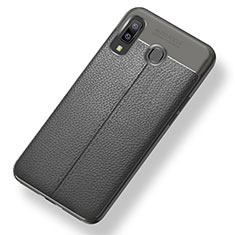 Funda Silicona Goma de Cuero Carcasa para Samsung Galaxy A8 Star Gris