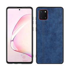 Funda Silicona Goma de Cuero Carcasa para Samsung Galaxy A81 Azul
