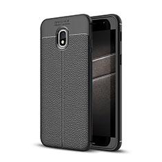 Funda Silicona Goma de Cuero Carcasa para Samsung Galaxy J3 Star Negro