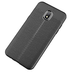 Funda Silicona Goma de Cuero Carcasa para Samsung Galaxy J7 (2018) J737 Negro