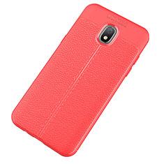 Funda Silicona Goma de Cuero Carcasa para Samsung Galaxy J7 (2018) J737 Rojo