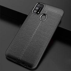 Funda Silicona Goma de Cuero Carcasa para Samsung Galaxy M21s Negro
