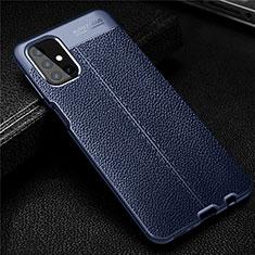 Funda Silicona Goma de Cuero Carcasa para Samsung Galaxy M31s Azul