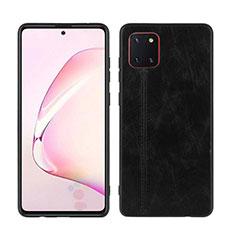 Funda Silicona Goma de Cuero Carcasa para Samsung Galaxy Note 10 Lite Negro