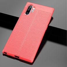 Funda Silicona Goma de Cuero Carcasa para Samsung Galaxy Note 10 Plus 5G Rojo