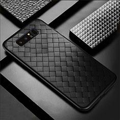 Funda Silicona Goma de Cuero Carcasa para Samsung Galaxy Note 8 Duos N950F Negro