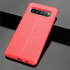 Funda Silicona Goma de Cuero Carcasa para Samsung Galaxy S10 5G SM-G977B Rojo