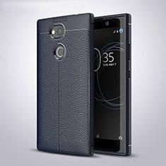 Funda Silicona Goma de Cuero Carcasa para Sony Xperia L2 Azul