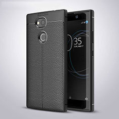Funda Silicona Goma de Cuero Carcasa para Sony Xperia L2 Negro